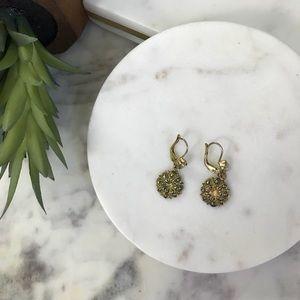 Vintage • Marcasite Medallion Earrings
